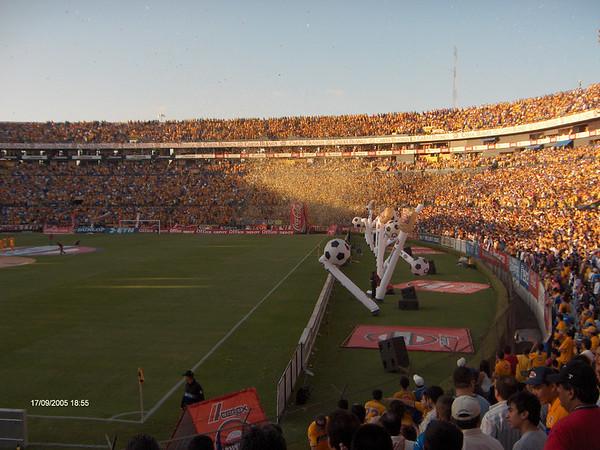 Soccer game in Monterrey